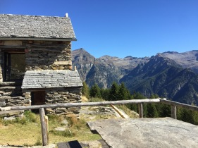 A mountain hut you can sleep in.